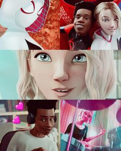 Spiderman And Spider Gwen, Miles Spiderman, Miles Morales Spiderman, Spiderman Art, Marvel Fan, Marvel Avengers, Marvel Comics, Gwen Stacy, Character Design Animation