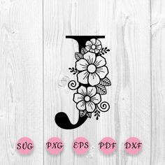 Floral Letters, Monogram Letters, Pixie, Flower Alphabet, Shabby, Monogram Design, Logo Design, Letter J, Star Flower