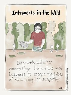 I can name your species and spot you anywhere. It's because I do all the same things you do. Introvert Cartoon from http://infjoe.wordpress.com.