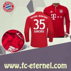 fc-eternel:Maillot Bayern Munich Manche Longue SANCHES 35 Domicile 16/17 Maillot Bayern Munich, Lewandowski, Football, Sweatshirts, Sports, Sweaters, Tops, Baby Born, Long Dress Patterns