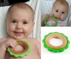 One part teether and one part toy, the Green Ring is perfect for teething and beneficial skill building infant fun. The Green Ring toy is comprised of a 3-inch loop of smooth maple wood encircled by soft, corn starch bio-resin. This clip friendly ring is great for travel, easy cleaning, and is 100% eco-friendly.