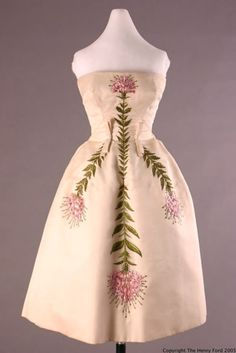 Bob Bugnand evening dress ca. 1955-1960 via The Henry Ford Historic Costume Collection - Gorgeous.
