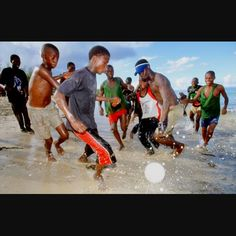 Playing Soccer in Pemba, Mozambique