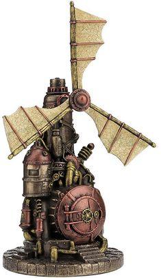 Steampunk Windmill Statue Sculpture Figurine - New in Box hot decor Steampunk City, Steampunk Kunst, Steampunk House, Steampunk Interior, Girls Dollhouse, Retro Futuristic, Train Layouts, Fantasy, Dieselpunk