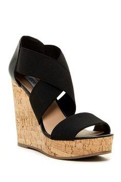 56cbd48283 44 Best Shoes images | Platform wedge, Wedges, Ankle straps