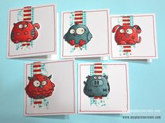 #PaperSmooches Critter Cards by Kylie