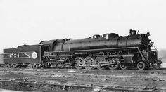 Another class of steam locomotives was the 4-8-4 type. Used on many railways in the United States of America to power freight and passenger service. These dual service locomotives were call northerns on most railroads and others such as the C&O called them Greenbriers. Here is the Frisco Railway version of a Nothern painted in the Frisco Fast Freight paint scheme.