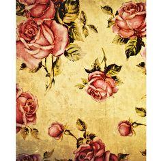 Grunge Roses Printed Backdrop | Backdrop Express