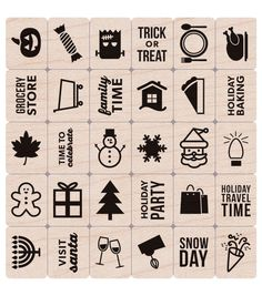 Hero Arts® Mounted Rubber Stamp Set-Holiday Planner Icons
