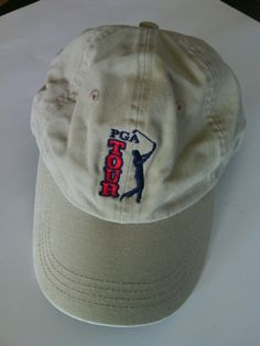 Golf s PGA Tour Mastercard Baseball Cap Hat Adjustable Size Embroidered  Khaki US  96897b70e9a8