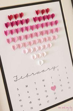 calendario coração 3