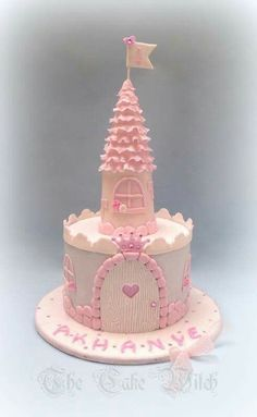 Ideas For Birthday Cake Kids Princess - birthday Cake Ideen Castle Birthday Cakes, Birthday Cake Girls, Birthday Parties, 4th Birthday, Birthday Board, Birthday Ideas, Fondant Cakes, Cupcake Cakes, Fondant Girl
