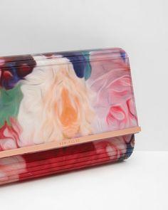 b907038d2 Floral Swirl resin clutch bag - Fuchsia