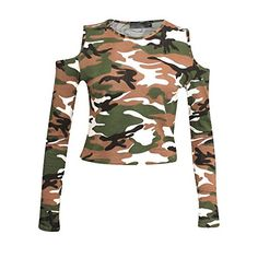 Home of Fashion Cream Green Mocha Camouflage Print Cut Out Cold Shoulder Long Sleeve Crop Top (SM (8-10)) The Home of Fashion http://www.amazon.co.uk/dp/B01C2TURIG/ref=cm_sw_r_pi_dp_c.ZYwb0BB7FSH