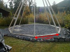 How to Build a Sami Hut in Wood! : 10 Steps (with Pictures) - Instructables Tenda Camping, Teepee Camping, Diy Teepee, Fire Pit Dome, Wooden Teepee, Fire Pit Plans, Quonset Homes, Rustic Outdoor Furniture, Build A Greenhouse