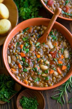 Italian Lentil Soup - Instant Pot and Crock Pot - Peas And Crayons