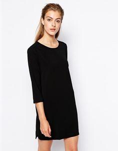 Image 1 ofMango Crepe Woven T-Shirt Dress