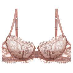 La Perla Begonia Balconette Bra (175 CAD) ❤ liked on Polyvore featuring intimates, bras, lingerie, underwear, underkläder, rosa, lace balconette bra, la perla bras, la perla and lace lingerie