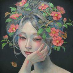 Японская художница Михо Хирано (Miho Hirano) и её волшебные женщины.. Обсуждение на LiveInternet - Российский Сервис Онлайн-Дневников