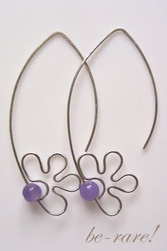 wire flower earrings