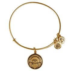 Claddagh Charm Bangle in Russian Silver| Alex and Ani, $28.00