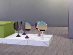 Bathroom.Aloe - Mirror Table (Decor) Found in TSR Category 'Sims 4 Miscellaneous Decor'