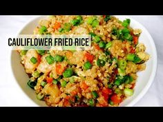 Cauliflower Shrimp Fried Rice -Sauté onions and garlic with olive oil and then put to the side. - Add 2 ½ cups of frozen cauliflower rice, 1 cup of frozen pe. Frozen Cauliflower Rice, Cauliflower Recipes, Clean Eating Recipes, Healthy Recipes, Meatless Recipes, Meal Recipes, Shrimp Fried Rice, Low Carb Veggies, Veggie Dishes