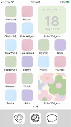 iOS 14 inspo | danish pastel theme