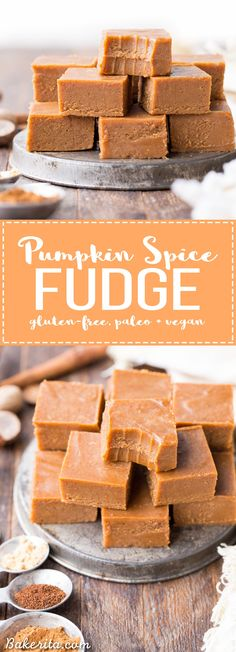 This Pumpkin Spice Fudge is an easy-to-make, no-cooking-necessary treat that melts in your mouth and tastes like fall! With just five ingredients, this homemade fudge couldn't be easier to make.