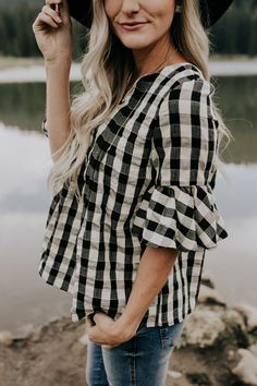 Checked Blouse | ROOLEE