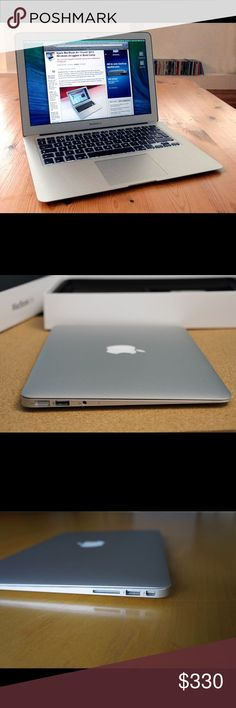 MacBook 13-inch Laptop Mid-2012 MacBook Air! I'm selling this because I just got a new one for my birthday although I didn't need it because this one works perfectly. Besides a couple SMALL scratches on the bottom, this computer works absolutely perfectly! I also have a maroon case I will give you as well!  13-inch laptop (1.6 GHz Intel Core i5, 4GB RAM, 128 GB SSS Hard drive, Mac OS X)  Comes with charger and extension for the charger!  I'll ship it for free on Merc as well :) Apple…