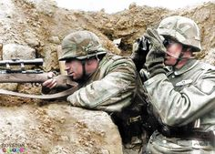 German Sniper with his observer