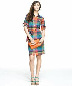 Cotton Madras Dress: DRESSES | Free Shipping at L.L.Bean