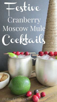 Cranberry Moscow Mules - A New Twist on an Old Favorite