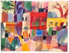 Paul Klee - Maisons rouge et jaune à Tunis (1914)