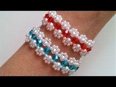 Simple beaded bracelet tutorial .Bow bracelet making - YouTube