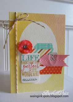 Stampin' Up! stamp set Perfect Pennants, Retro Fresh washi tape, baker's twine