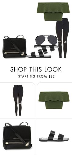 """#573"" by laylah-wish ❤ liked on Polyvore featuring Topshop, WearAll, Givenchy, Steve Madden and Quay"
