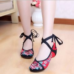 red&blue&black (MA013) old beijing woman dacing shoes chinese traditional embroidered  cloth shoes - http://www.freshinstyle.com/products/redblueblack-ma013-old-beijing-woman-dacing-shoes-chinese-traditional-embroidered-cloth-shoes/