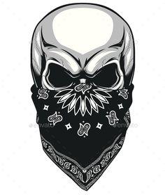 Illustration about Vector illustration, skull bandana on a white background. Illustration of evil, bandana, frightening - 57169645 Skull Tattoo Design, Skull Design, Skull Tattoos, Body Art Tattoos, Tattoo Drawings, Sleeve Tattoos, Tattoo Designs, Drawings Of Skulls, Skull Artwork