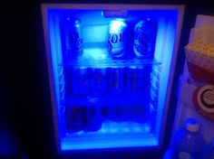 Beer fridge and someone's put Coke and Sprite in it ! ! ! !