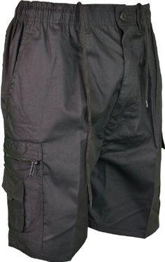 7052091b1c5 Mens Plain Summer Shorts Pure Cotton Cargo Combat Style