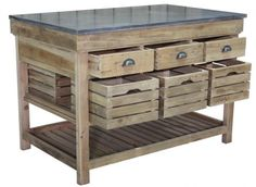 The Alexander Kitchen Island from Block and Chisel. www.blockandchsiel.co.za