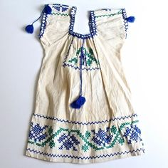 Vintage Authentic Mexican Embroidered Dress sz 5/6