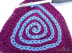 Dreieck Spiraluntersetzer Kettmaschen aufhäkeln