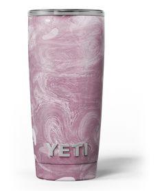 Pink Slate Marble Surface V15 Yeti Rambler Skin Kit from DesignSkinz