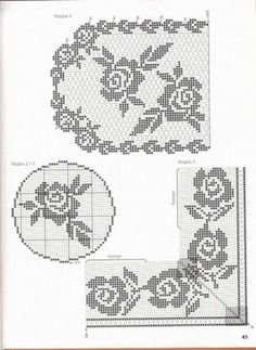 Risultati immagini per Dantel ve şema Crochet Edging Patterns, Crochet Borders, Filet Crochet, Crochet Designs, Knit Crochet, Crochet Puff Flower, Crochet Doilies, Crochet Flowers, Filets