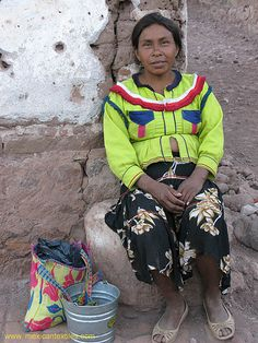 Cora - distinguished by her way of dressing from the other tribes in Nayarit