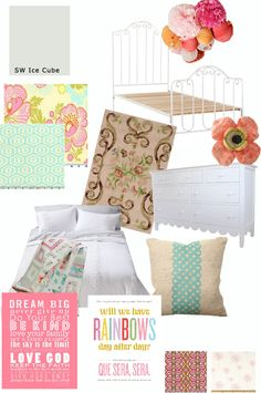 love the colors, patterns and textures Big girls room
