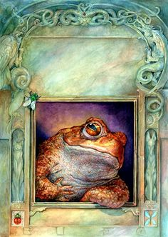 Omar Rayyan - toad leaning on window sill Art And Illustration, Frosch Illustration, Book Illustrations, Omar Rayyan, The Magic Faraway Tree, For Elise, Frog Art, Frog And Toad, Fairy Tales